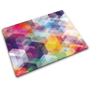 משטח עבודה מזכוכית Hexagons